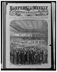 Harper's Weekly Covering the triumph of the passage of the 13th Amendment. Source: LOC